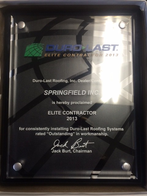 2013 Duro-Last Elite Contractor Award