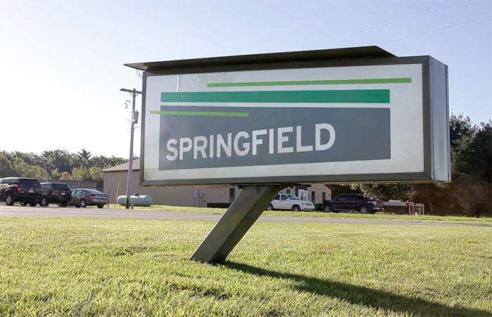 Springfield M37 front sign